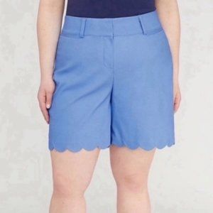 Lane Bryant The Allie Scalloped High Rise Shorts